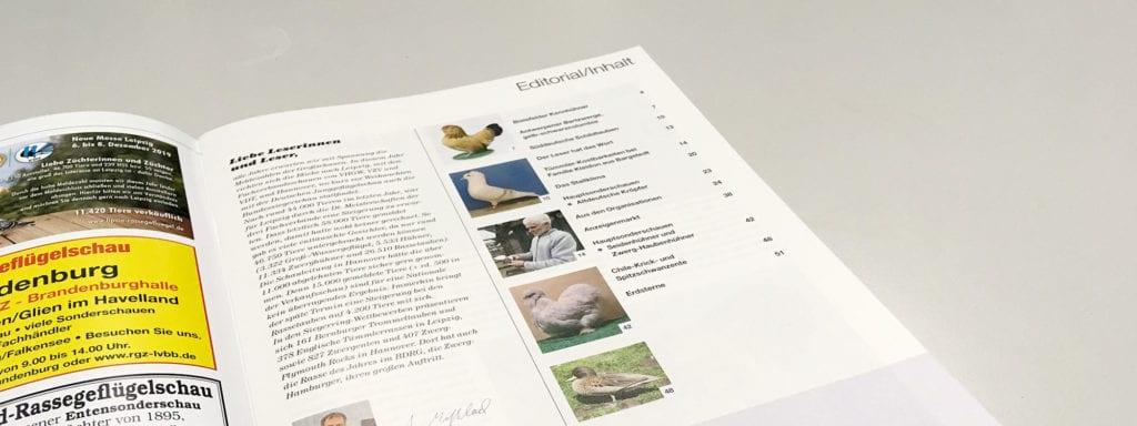 Bild Inhaltsverzeichnis Geflügelzeitung