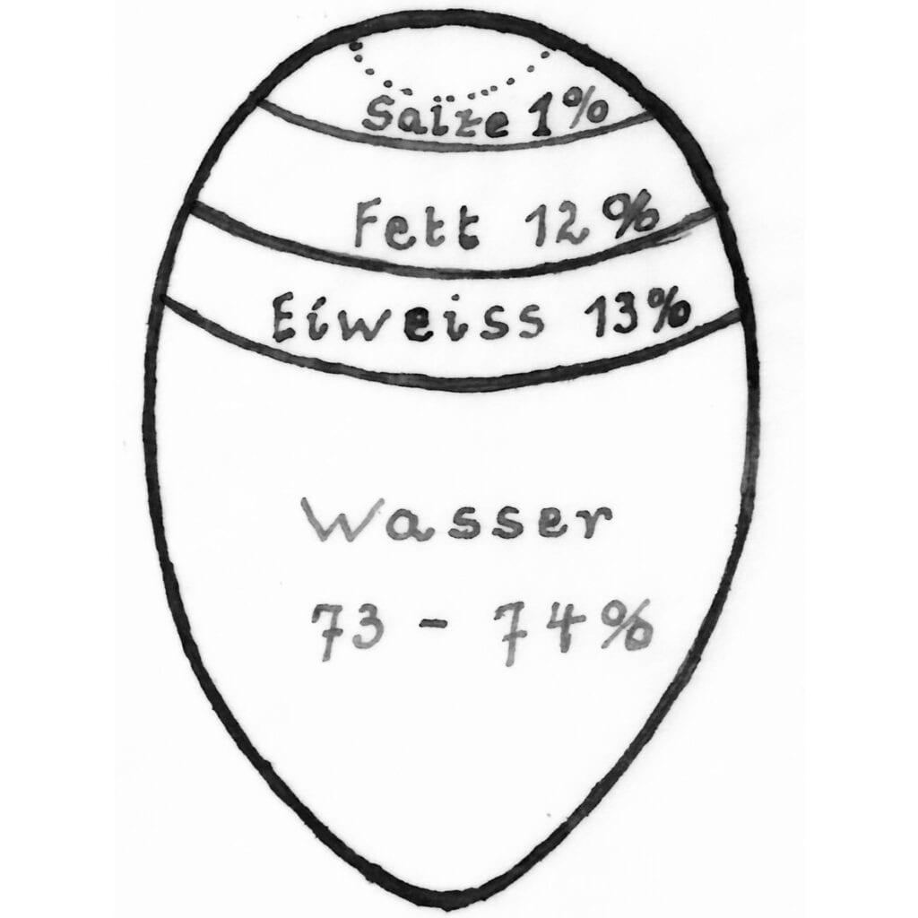 Zusammensetzung des Inhaltes der Eier